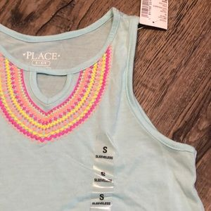 NWT - Childrens Place Aztec Neck Line Tank Top